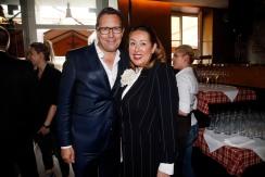 Robert Pölzer, Martina Buckenmaier Mode Medien Abend / Fashion Meets Meat im Restaurant Zum Goldenen Kalb in München am 19.04.2018.Agency People Image (c) Jessica Kassner
