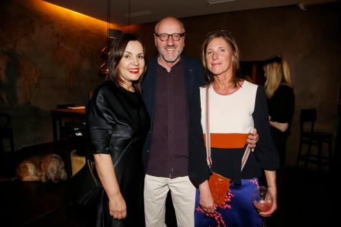 Sabine Spieler, Thomas Rasch, Silke EmigModeMedienAbend / Fashion Meets Meat im Restaurant Zum Goldenen Kalb in München am 19.04.2018.Agency People Image (c) Jessica Kassner