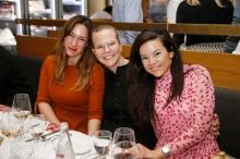 Sorana Puie, Lara Gonschorowski, Deborah NeufeldModeMedienAbend / Fashion Meets Meat im Restaurant Zum Goldenen Kalb in München am 19.04.2018.Agency People Image (c) Jessica Kassner