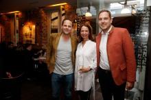 Oliver Pfund, Tanja Croonen, Nikolas LöwenthalModeMedienAbend / Fashion Meets Meat im Restaurant Zum Goldenen Kalb in München am 19.04.2018.Agency People Image (c) Jessica Kassner