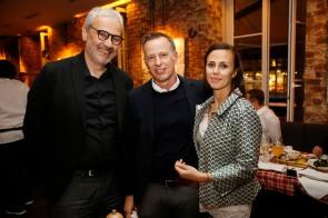 Michael Wolff, Dirk Reichert, Victoria ReichertModeMedienAbend / Fashion Meets Meat im Restaurant Zum Goldenen Kalb in München am 19.04.2018.Agency People Image (c) Jessica Kassner