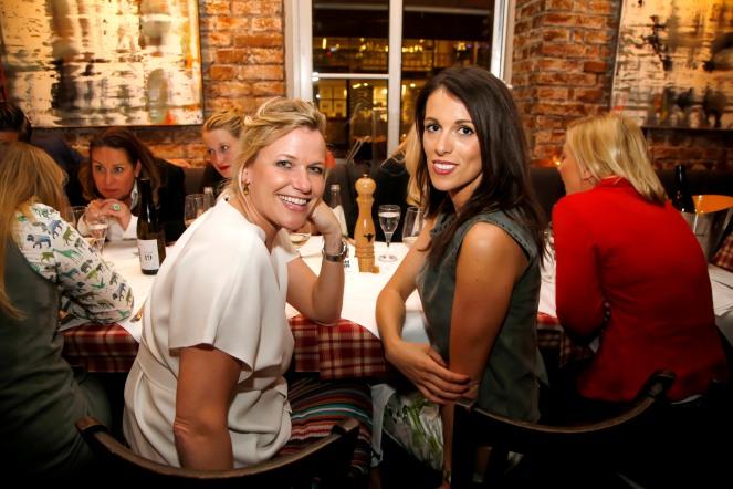 Maike Nevermann, Tamara Henssler ModeMedienAbend / Fashion Meets Meat im Restaurant Zum Goldenen Kalb in München am 19.04.2018.Agency People Image (c) Jessica Kassner