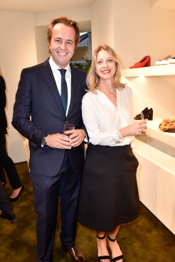 Nicolas Barré (Céline, General Manager Europe and Middle East), Séverine Merle (Céline, CEO) Céline Store Opening, Maximilianstraße 22, München am 13.09.2017 Foto: BrauerPhotos / S.Brauer für Céline