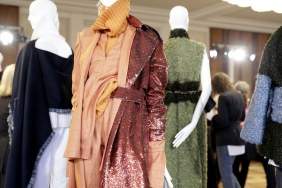 Fashion details of Designer Belize are ssen during the Vogue Salon during 'Der Berliner Salon' AW 18/19 at Kronprinzenpalais on January 16, 2018 in Berlin, Germany.