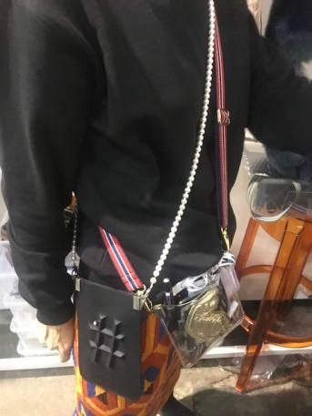 Handybag jetzt auch für abends mit Perlen: Gabriele Frantzen