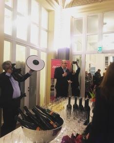 Ein starkes Team: Alfons Kaiser und Helmut Fricke beim FAZ-Empfang