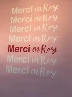 Merci, dieses Mal en Rose...