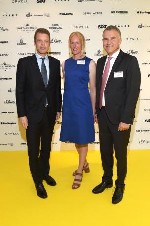 Christian Sewing, Dr. Daniel Terberger und Elisabeth Herzogin in Bayern 63. KATAG-Cheftagung in Bielefeld am 07.06.2017 Foto: BrauerPhotos / G.Nitschke