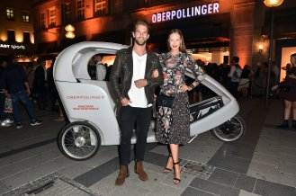 MUNICH, GERMANY - SEPTEMBER 12: Andre Hamann and Sandy Meyer-Woelden during the grand opening of the new Oberpollinger ground floor 'Muenchens Neue Prachtmeile' at Oberpollinger on September 12, 2018 in Munich, Germany. (Photo by Hannes Magerstaedt/Getty Images for Oberpollinger,)