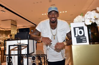 MUNICH, GERMANY - SEPTEMBER 12: Jerome Boateng during the grand opening of the new Oberpollinger ground floor 'Muenchens Neue Prachtmeile' at Oberpollinger on September 12, 2018 in Munich, Germany. (Photo by Hannes Magerstaedt/Getty Images for Oberpollinger,)
