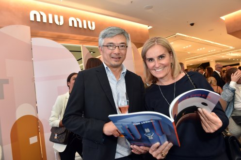 MUNICH, GERMANY - SEPTEMBER 12: CEO Central Group and Shareholder Tos Chirathivat and Petra Fladenhofer, The KaDeWe Group during the grand opening of the new Oberpollinger ground floor 'Muenchens Neue Prachtmeile' at Oberpollinger on September 12, 2018 in Munich, Germany. (Photo by Hannes Magerstaedt/Getty Images for Oberpollinger,)