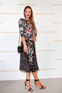 MUNICH, GERMANY - SEPTEMBER 12: Alessandra Meyer-Woelden during the grand opening of the new Oberpollinger ground floor 'Muenchens Neue Prachtmeile' at Oberpollinger on September 12, 2018 in Munich, Germany. (Photo by Franziska Krug/Getty Images for Oberpollinger)