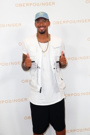 MUNICH, GERMANY - SEPTEMBER 12: Jerome Boateng during the grand opening of the new Oberpollinger ground floor 'Muenchens Neue Prachtmeile' at Oberpollinger on September 12, 2018 in Munich, Germany. (Photo by Franziska Krug/Getty Images for Oberpollinger)