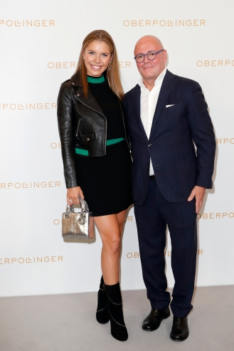 MUNICH, GERMANY - SEPTEMBER 12: Victoria Swarovski and Andre Maeder during the grand opening of the new Oberpollinger ground floor 'Muenchens Neue Prachtmeile' at Oberpollinger on September 12, 2018 in Munich, Germany. (Photo by Franziska Krug/Getty Images for Oberpollinger)