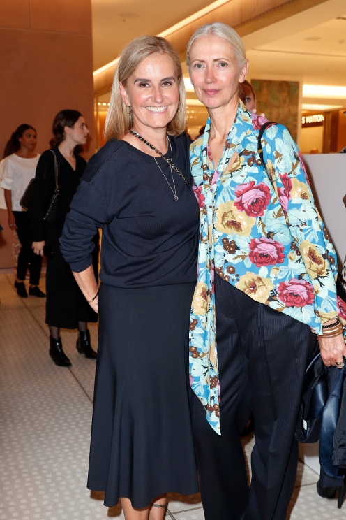 MUNICH, GERMANY - SEPTEMBER 12: Petra Fladenhofer and Christiane Arp during the grand opening of the new Oberpollinger ground floor 'Muenchens Neue Prachtmeile' at Oberpollinger on September 12, 2018 in Munich, Germany. (Photo by Franziska Krug/Getty Images for Oberpollinger)
