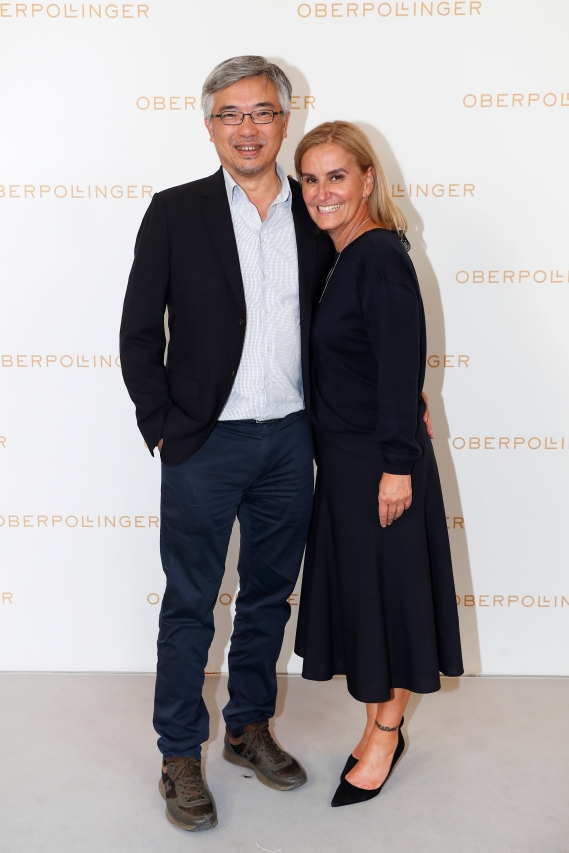 MUNICH, GERMANY - SEPTEMBER 12: Tos Chirathivat and Petra Fladenhofer during the grand opening of the new Oberpollinger ground floor 'Muenchens Neue Prachtmeile' at Oberpollinger on September 12, 2018 in Munich, Germany. (Photo by Franziska Krug/Getty Images for Oberpollinger)