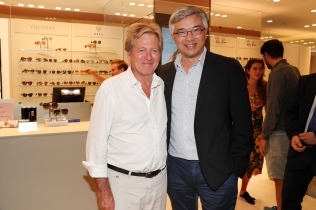 MUNICH, GERMANY - SEPTEMBER 12: John Pawson and Tos Chirathivat during the grand opening of the new Oberpollinger ground floor 'Muenchens Neue Prachtmeile' at Oberpollinger on September 12, 2018 in Munich, Germany. (Photo by Franziska Krug/Getty Images for Oberpollinger)
