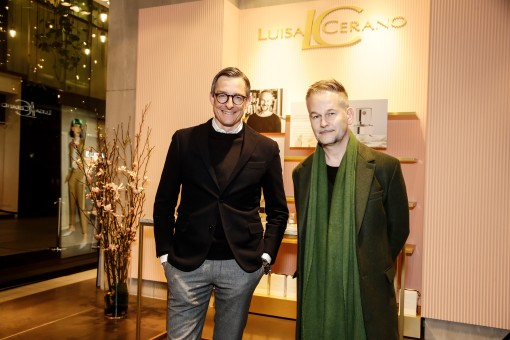 Jürgen Leuthe (Geschäftsführer Luisa Cerano), Geza Schön Luisa Cerano Duftpräsentation in München am 14.03.2019. Agency People Image (c) Jessica Kassner